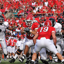 Sep 7, 2009; Piscataway, NJ, USA; Rutgers running back Joe Martinek (38) runs off tackle during the first half of Rutgers' 47-15 loss to Cincinnati in NCAA college football at Rutgers Stadium.
