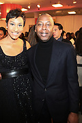27 January 2011-New York , NY- l to r: Desiree Rogers and Gary Lamply at ' For the Love of Color ' celebrating the vision of Eunice Johnson and the Ebony Fashion, Fair Cosemetics sponsored by Macy's and held at Macy's Herald Square on January 27, 2011 in New York City. Photo Credit: Terrence Jennings