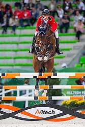 Emanuel Andrade, (VEN), Hardrock Z - Team & Individual Competition Jumping Speed - Alltech FEI World Equestrian Games™ 2014 - Normandy, France.<br /> © Hippo Foto Team - Leanjo De Koster<br /> 02-09-14
