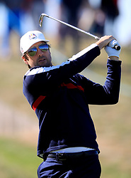 Team USA's Greg Kinnear during the 2018 Ryder Cup Celebrity Match at Le Golf National, Saint-Quentin-en-Yvelines, Paris. PRESS ASSOCIATION Photo. Picture date: Tuesday September 25, 2018. See PA story GOLF Ryder. Photo credit should read: Gareth Fuller/PA Wire. RESTRICTIONS: Editorial use only. No commercial use.