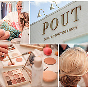 A bride and her bridesmaids get ready at POUT in Columbia, S.C. ©Travis Bell Photography