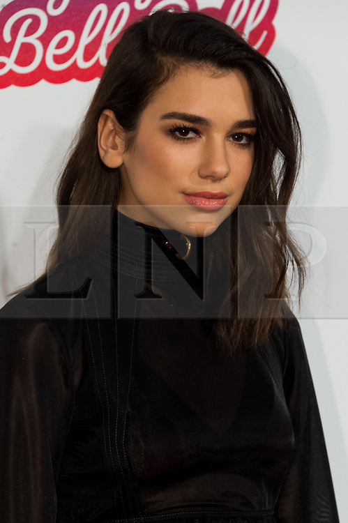 © Licensed to London News Pictures. 03/12/2016. DUA LIPA attends Capital's Jingle Bell Ball with Coca-Cola at London's O2 Arena London, UK. Photo credit: Ray Tang/LNP