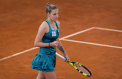 May 5, 2019 - Madrid, MADRID, SPAIN - Kristyna Pliskova of the Czech Republic in action during her first-round match at the 2019 Mutua Madrid Open WTA Premier Mandatory tennis tournament (Credit Image: © AFP7 via ZUMA Wire)