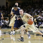 Central Florida guard A.J. Rompza (3) dribbles past Trevan Abraham (0) during the first half of  a Conference USA NCAA basketball game between the Rice Owls and the Central Florida Knights at the UCF Arena on January 22, 2011 in Orlando, Florida. Rice won the game 57-50 and extended the Knights losing streak to 4 games.  (AP Photo/Alex Menendez)