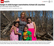 Photograph of Sierra family in Bergen County, NJ in article on food banks and food insecurity during the pandemic