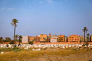 06-10-2015 -  Foto van Kerkhof buiten de stad bij De stad van Marrakech in Marrakech, Marokko.