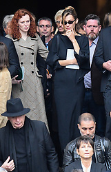 Bella Hadid leaving the funeral service for late photographer Peter Lindbergh held at Saint Sulpice church in Paris, France on September 24, 2019. Photo by ABACAPRESS.COM