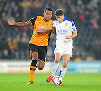 Leicester City's Andrej Kramaric vies for possession with Hull City's Tom Huddlestone<br /> <br /> Photographer Chris Vaughan/CameraSport<br /> <br /> Football - Capital One Cup Round 4 - Hull City v Leicester City - Tuesday 27th October 2015 - Kingston Communications Stadium - Hull<br />  <br /> © CameraSport - 43 Linden Ave. Countesthorpe. Leicester. England. LE8 5PG - Tel: +44 (0) 116 277 4147 - admin@camerasport.com - www.camerasport.com