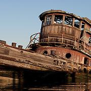 Steam Tug Ned Moran, Boatyard April 9, 2005