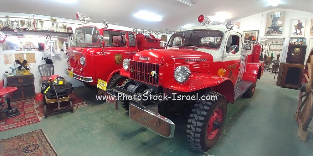 Old fire trucks in the fire brigade museum