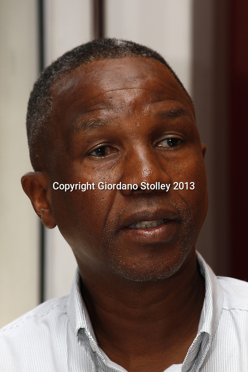 DURBAN - 28 August 2013 - Bonga Nzuza, the National Freedom Party's national organiser, speaks at a press conference where it was announced that NFP councillors in KwaZulu-Natal have been offered baghs of money to dump the party ahead of the 2014 national election. Picture: Allied Picture Press/APP