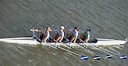 Chiswick, London, Great Britain.<br /> Globe J16 Quad, competing at the <br /> 2016 Schools Head of the River Race, Reverse Championship Course Mortlake to Putney. River Thames.<br /> <br /> Thursday  17/03/2016<br /> <br /> [Mandatory Credit: Peter SPURRIER;Intersport images]
