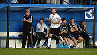 Photo: Jonathan Butler.<br />Luton Town v Birmingham City. Coca Cola Championship. 14/10/2006.<br />Rowan Vine of Luton celebrates in front of the Birmingham bench after scoring from thre spot.