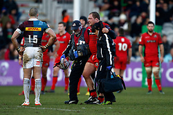 Edinburgh Rugby's WP Nel goes off injured during the European Challenge Cup, pool five match at Twickenham Stoop, London.
