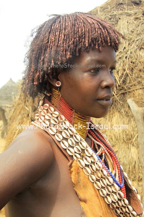 Africa, Ethiopia, Omo Valley Konso tribe woman