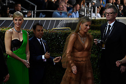 January 5, 2020, Beverly Hills, California, USA: CHARLIZE THERON AND GWYNETH PALTROW during red carpet arrivals for the 77th Annual Golden Globe Awards, at The Beverly Hilton Hotel. (Credit Image: © Kevin Sullivan via ZUMA Wire)
