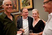RICHARD LONG; ANTHONY REYNOLDS; JACQUI DAVIES; NICHOLAS LOGSDAIL, Tate Britain Summer party. Tate. Millbank. 27 June 2011. <br /> <br />  , -DO NOT ARCHIVE-© Copyright Photograph by Dafydd Jones. 248 Clapham Rd. London SW9 0PZ. Tel 0207 820 0771. www.dafjones.com.