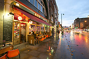 Exterior of Bar Kick on 18th November 2015 in East London, United Kingdom. Bar Kick is a lively cafe and pub with numerous Bonzini football tables