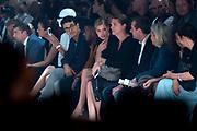 Mercedes Benz FashionWeek / Amsterdam Fashion Week zomer 2014 dag 5 - catwalk Maria Cle Leal in de Gashouder, Amsterdam.<br /> <br /> Op de foto:   Doutzen Kroes en partner Sunnery James
