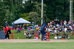 September 22, 2018 - Morrisville, North Carolina, US - Sept. 22, 2018 - Morrisville N.C., USA - Team USA SUNNY SOHAL (1) in bat during the ICC World T20 America's ''A'' Qualifier cricket match between USA and Canada. Both teams played to a 140/8 tie with Canada winning the Super Over for the overall win. In addition to USA and Canada, the ICC World T20 America's ''A'' Qualifier also features Belize and Panama in the six-day tournament that ends Sept. 26. (Credit Image: © Timothy L. Hale/ZUMA Wire)