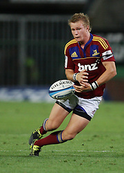 Robbie Robinson loses grip on ball while running during the Super Rugby (Super 15) fixture between the DHL Stormers and the Highlanders held at DHL Newlands Stadium in Cape Town, South Africa on 11 March 2011. Photo by Jacques Rossouw/SPORTZPICS
