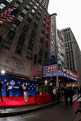 A view outside before the first round of the NFL Draft on April 26th 2012 at Radio City Music Hall in New York, New York. (AP Photo/Brian Garfinkel)