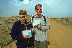 Showing Stamps In Passport Having Entered Transkei