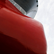 abstract photo of a ships bow