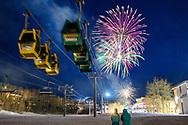 2020 Mardi Gras fireworks in Snowmass Village, Colorado.