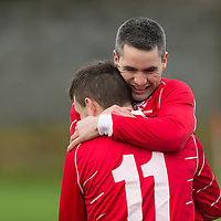 Newmarkets David McCarthy and Eoin Hayes celebrate after the goal