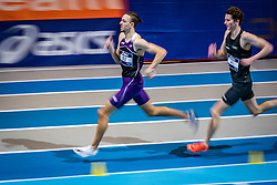 (L-R) Djoao Lobles, Bram Buigel in action on the 800 meters during limit matches to be held simultaneously with the Dutch Athletics Championships on 14 February 2021 in Apeldoorn
