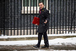 © Licensed to London News Pictures. 01/03/2018. London, UK. Secretary of State for Wales Alun Cairns on Downing Street for a meeting of the Cabinet ahead of Prime Minister Theresa May's speech on Brexit. Photo credit: Rob Pinney/LNP