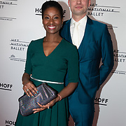 NLD/Amsterdam/20200206 - Ballet premiere Frida, Milouska Meulens en partner Joris Marseille