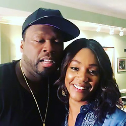 """50 Cent releases a photo on Instagram with the following caption: """"@tiffanyhaddish is the truth, she is super talented. #50centralbet"""". Photo Credit: Instagram *** No USA Distribution *** For Editorial Use Only *** Not to be Published in Books or Photo Books ***  Please note: Fees charged by the agency are for the agency's services only, and do not, nor are they intended to, convey to the user any ownership of Copyright or License in the material. The agency does not claim any ownership including but not limited to Copyright or License in the attached material. By publishing this material you expressly agree to indemnify and to hold the agency and its directors, shareholders and employees harmless from any loss, claims, damages, demands, expenses (including legal fees), or any causes of action or allegation against the agency arising out of or connected in any way with publication of the material."""