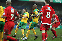 Photo: Rich Eaton.<br /> <br /> Tamworth FC v Norwich City. The FA Cup. 06/01/2007. Darren Huckerby #6 of Norwich scores to make the score 3-0 in the second half