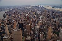 Manhattan Island with East & Hudson Rivers