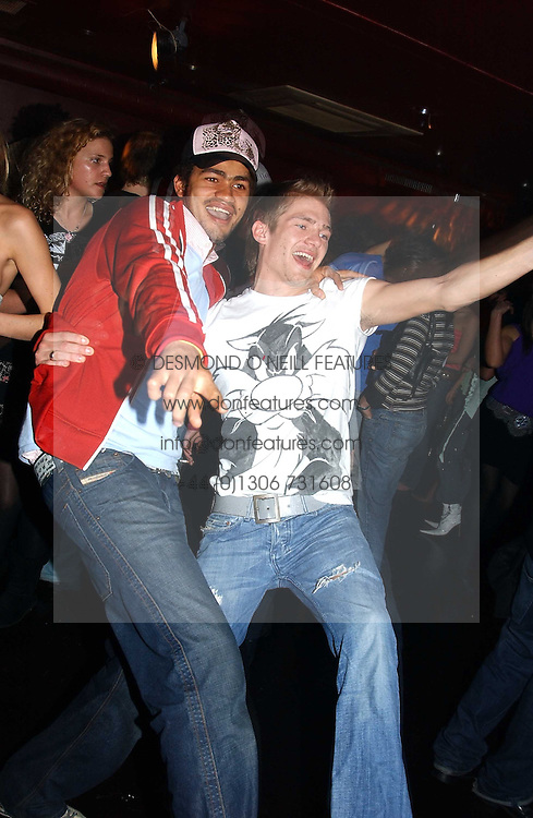 Left to right, STEVE WOOD and JACOBI ANSTRUTHER-GOUGH-CALTHORPE at an Easter party hosted by Charlie Gilkes under the umbrella of his new PR/Events Company; 'Chic Vie' at trendy South Kensington Nightclub; 'Boujis' that is a favourite with Princes William and Harry and a host of other celebrities on 21st March 2005. Guests enjoyed a fruit martini reception on arrival and danced the night away until the early hours<br /><br />NON EXCLUSIVE - WORLD RIGHTS