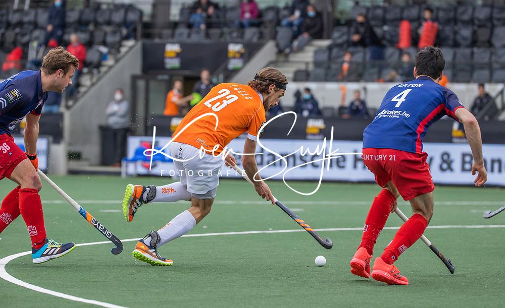 AMSTELVEEN - Florian Fuchs (Bldaal)  tijdens de halve finale wedstrijd mannen EURO HOCKEY LEAGUE (EHL),  HC Bloemendaal- Royal Leopold Club (Bel)(1-1) Bloemendaal wint shoot outs en plaatst zich voor de finale.  COPYRIGHT  KOEN SUYK