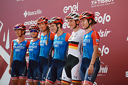 Ceratizit - WNT Pro Cycling at Strade Bianche - Elite Women 2020, a 136 km road race starting and finishing in Siena, Italy on August 1, 2020. Photo by Sean Robinson/velofocus.com