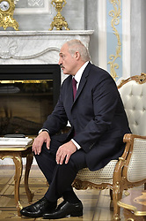 June 19, 2018 - ???, Belarus - June 19, 2018. - Belarus, Minsk. - President of Belarus Alexander Lukashenko during a meeting with Russian President Vladimir Putin. (Credit Image: © face to face via ZUMA Press)