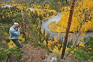 Staffan Widstrand at Kitkajoki River in Oulanka National Park, Finland.