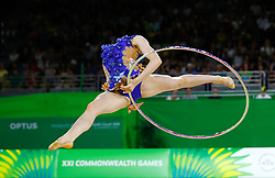 England's Hannah Martin competes in the Team Final and Individual Qualification Sub Division 2 - Rotation 1 at the Coomera Indoor Sports Centre during day seven of the 2018 Commonwealth Games in the Gold Coast, Australia.
