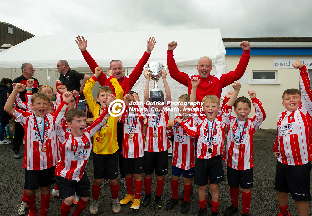 31-07-21. Kells Celtic U-8's - winners of the Parkvilla FC Soccer Blitz at Claremont Stadium.<br /> Photo: John Quirke / www.quirke.ie<br /> ©John Quirke Photography, 16 Proudstown Road, Navan. Co. Meath. (info@quirke.ie / 046-9028461 / 087-2579454).