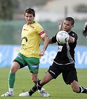 Fotball<br /> La Manga - Spania<br /> 09.03.2009<br /> Hønefoss v Nybergsund<br /> Foto: Morten Olsen, Digitalsport<br /> <br /> Mirza Durakovic - NYB<br /> Kamal Saaliti - HF