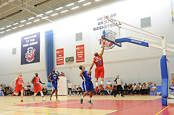 Cardell McFarland scores a last second basket to take the game into extra time - Mandatory byline: Dougie Allward/JMP - 07966 386802 - 10/09/2015 - BASKETBALL - SGS Wise Arena - Bristol, England - Bristol Flyers v USA Select.