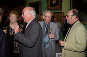Lady Antonia Pinter,Peter Roche,Eric Hobsbaun and Harold Pinter. Celebration of Lord Weidenfeld's 60 Years in Publishing hosted by Orion. the Weldon Galleries. National Portrait Gallery. London. 29 June 2005. ONE TIME USE ONLY - DO NOT ARCHIVE  © Copyright Photograph by Dafydd Jones 66 Stockwell Park Rd. London SW9 0DA Tel 020 7733 0108 www.dafjones.com