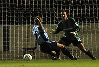 Photo: Richard Lane.<br /> Northampton Town v Southampton. Carling Cup. 22/09/2004.<br /> Kevin Phillips scores Saint's first goal, past Paul Rachubka