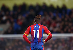 Crystal Palace's Wilfried Zaha during the Premier League match at Selhurst Park, south east London.