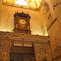 Europe, Spain, Seville. The Cathedral of Seville, Cathedral de Sevilla. The sepulchre of Columbus