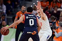 Baskonia's Shane Larkin and Real Madrid's Andres Nocioni during Semi Finals match of 2017 King's Cup at Fernando Buesa Arena in Vitoria, Spain. February 18, 2017. (ALTERPHOTOS/BorjaB.Hojas)
